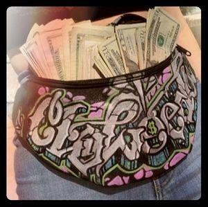 """Cloweeda"" custom fanny pack"